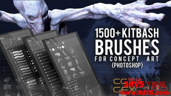 ArtStation – 1500+ Kitbash Brushes for Concept art for Photoshop